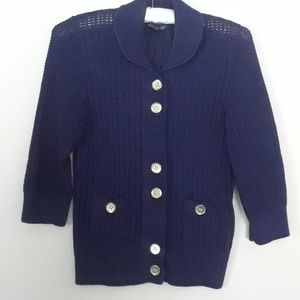 Navy blue cardigan, August Silk, size small
